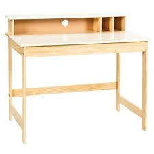 bureau enfant en bois bureau d enfant en bois massif laqué blanc naturel dim l 110