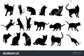 cat silhouette cat silhouette stock illustration 75814669
