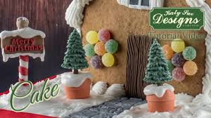 Gumdrop Christmas Tree Decorations by Fir Tree Silhouette Cake Decorating Mould Youtube