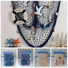 deko fischernetz fischernetz mit muscheln maritim strand