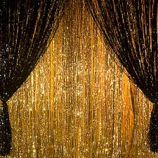 green and gold prom decor giant metallic foil curtains metallic