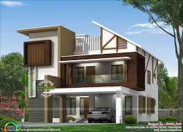 100 New Modern Houses Design Slanting Roof Home Architecture Kerala House
