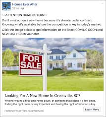 In The Facebook Ad Below Homes Ever After Offers Home Buyers Information About Latest Real Estate Listings