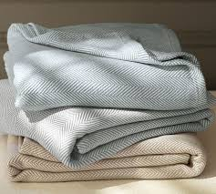 Pottery Barn Herringbone Organic Blanket copycatchic