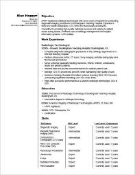 Sample Resume For A Radiography Professional Radiographer