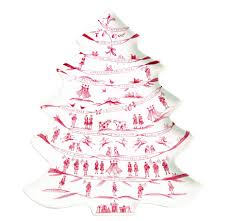 Simon Pearce Christmas Tree Ornament by Estate Winter Frolic Ruby Tree Platter 12 Days Of Christmas