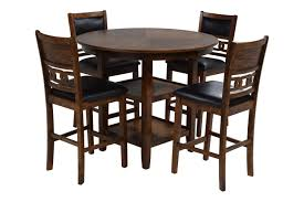 Gia Light Brown Counter Height Table With 4 Stools