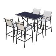 5 Piece Bar Height Patio Dining Set by Bar Height Patio Sets