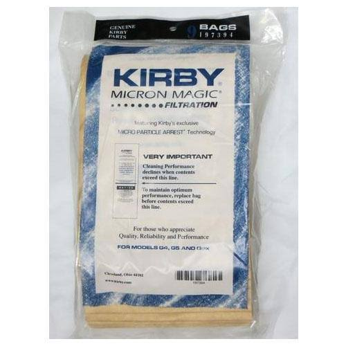 Kirby G4 & G5 Vacuum Cleaner Bags #197394A - 9 Pack, White
