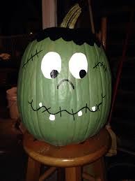 The Chic Technique Frankenstein Painted Pumpkin More Crafts