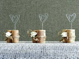 Rustic Party Decorations Place Card Holders Wine Tasting Decor Winery Wedding Cork