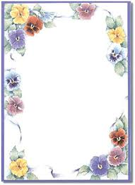 Paper Border Flower Stationery Designs Perfect Papers Borders Cutting Templates