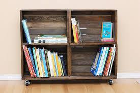 Mini Bookcase On Wheels