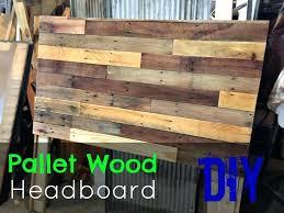 Wood Board Headboard Pallet Headboard How To Make A Simple Pallet