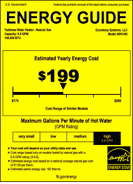 New Energy Labels For Water Heaters The Revised Guide Specifies A First Hour Rating And Actual Storage Capacity What Label Wont Give