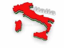Download Simple 3D Map Of Italy Stock Illustration