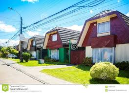 100 Houses In Chile An Houses In Valdivia Stock Photo Image Of Siding 105071884