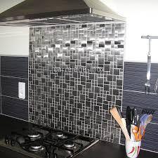 mosaique cuisine pas cher mosaïque inox 1m2 carrelage inox fond de hotte laska carrelage