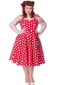 red polka dot dress dressed up