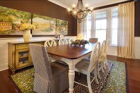 Dining Hall Design Room Eclectic With Wall Decor White Furniture Upholstered Chair