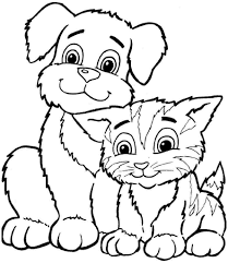 Kids Free Coloring Pages Sheets Animal Dogs Printable For Boys 8106