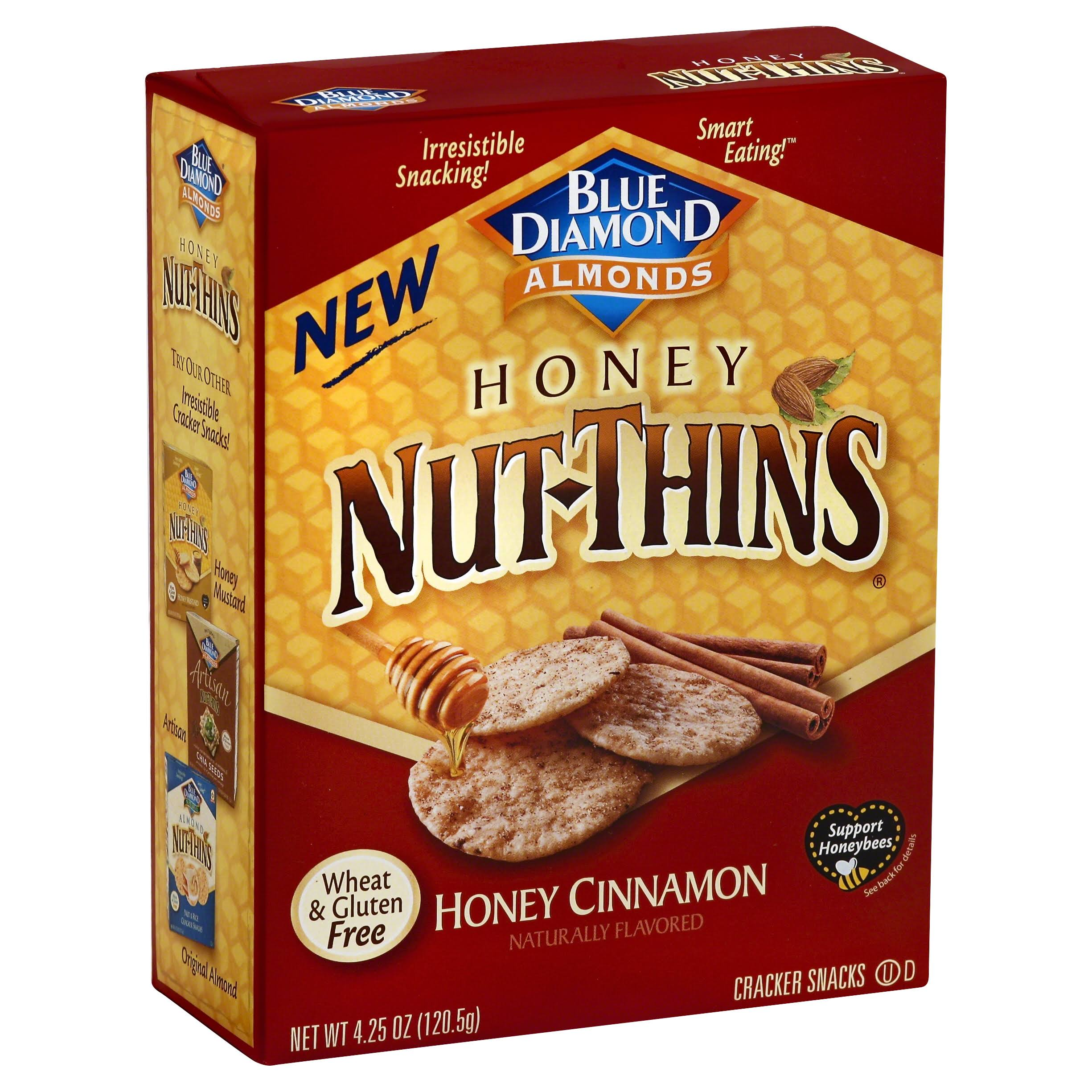 Blue Diamond Nut-thins Crackers - Honey Cinnamon, 120.5g