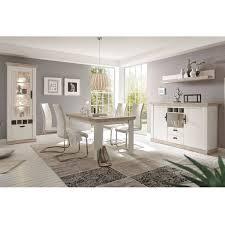 esszimmer set im landhaus stil ferna 61 dekor pinie weiß und oslo dunk