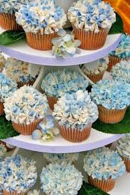 Hydrangea Wedding Cupcake Ideas