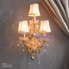 Modern Wall Lamp Crystal Home Large Sconce Gold Finish Wall Sconces