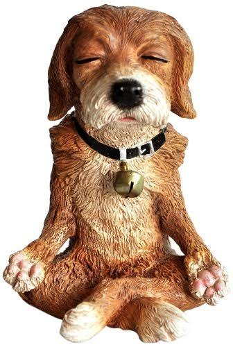Dog in Meditation Statue