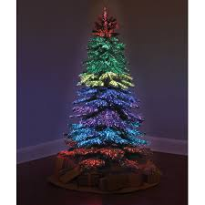 Fiber Optic Christmas Trees Canada by The Thousand Points Of Light Tree Hammacher Schlemmer