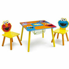 Sesame Street Toddler Table And Chair Set Storage Learning Desk Kids  Furniture