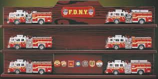 100 Code 3 Fire Trucks FDNY Horizontal Squad Display Case 1958
