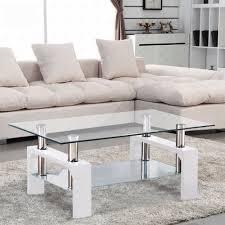 Ergonomic Living Room Furniture by Amazon Com Virrea Rectangular Glass Coffee Table Shelf Chrome