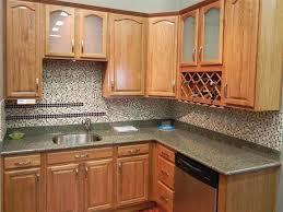 Kitchen Backsplash Designs With Oak Cabinets u shaped design oak cabinet chic white painted finish cabinets