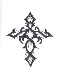 Collection Of 25 Tribal Cross Tattoo Sample