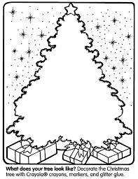 Blank Christmas Tree Coloring Page Pages