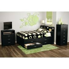 Walmart Bedroom Furniture by South Shore Step One 3 Drawer Full Size Storage Bed In Pure Black