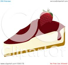 Clipart Serving Strawberry Cheesecake Royalty Free Vector Illustration by Randomway