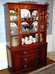 China Buffet Furniture Dining Room Set With Cabinet
