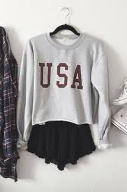 Sweater Usa Fall Outfits Outfit Fashion Tumblr Clothes Shirt Flannel Shoes Addias