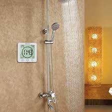 duschuhren wasserdichte uhren für badezimmer weiß hygrometer