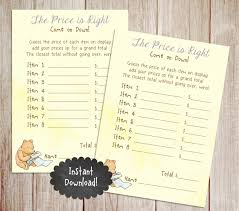 Winnie The Pooh Nursery Decor Ireland by Price Is Right Printable Winnie The Pooh Baby Shower Game