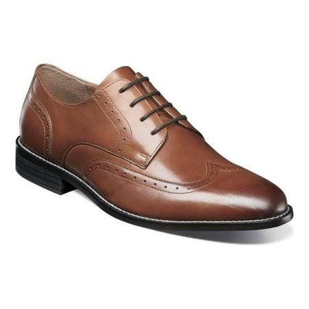 Nunn Bush Slate Wingtip Oxford 10.5 Men's Cognac