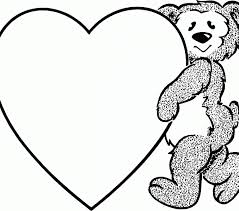 Valentine Printable Coloring Pages Free For Kids Image