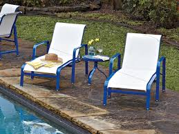 Aluminum Sling Stackable Patio Chairs by Woodard Landings Sling Aluminum Stackable Chaise Lounge 6g0470