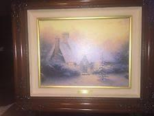 Thomas Kinkade Christmas Tree Cottage by Thomas Kinkade Canvas Gardens Art Prints Ebay