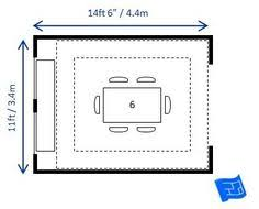 House Plans Helper Dining Table And Seating For Various Room Sizes X Ft 6 With A Rectangular Sideboard