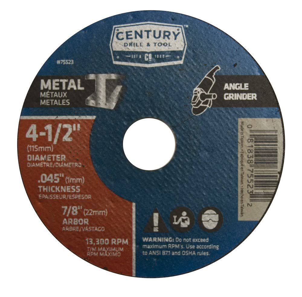 "Century Drill & Tool 75523 4-1/2""X.045"" Metal Wheel"