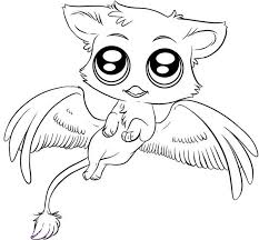 Cute Animals Coloring Pages Free Of